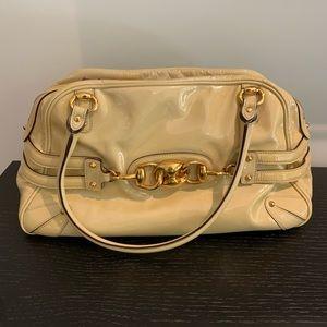 Gucci Patent Leather Horsebit Shoulder Bag